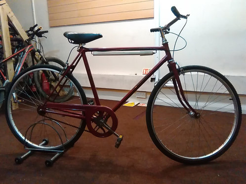HERCULES COMMUTER SINGLE SPEED TOWN/UNIVERSITY BIKE RED GOOD CONDITION