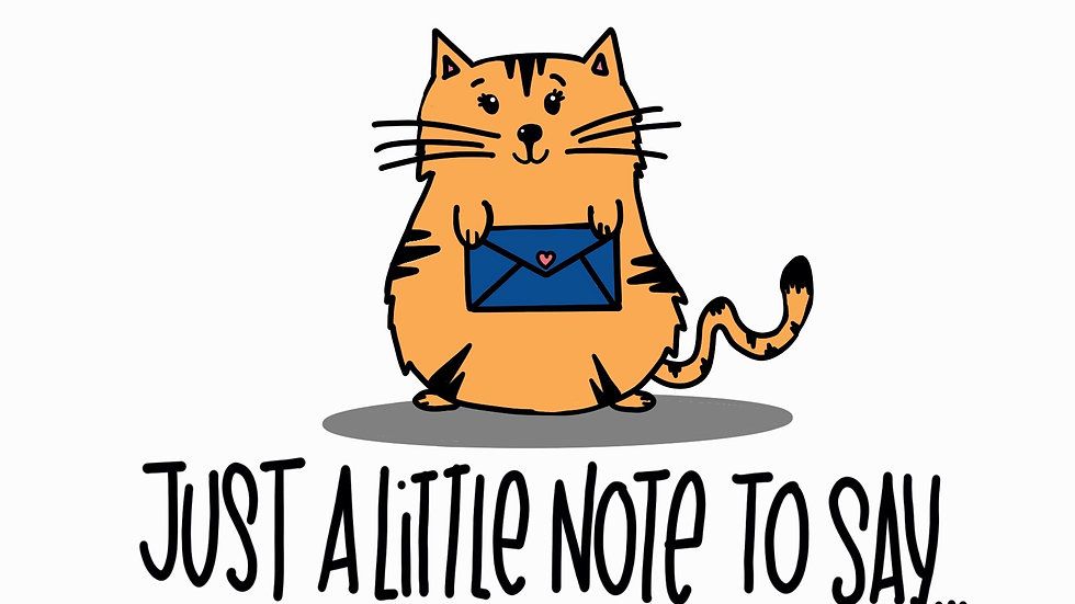 Just a Little Note (cat)