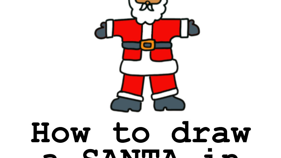 How to draw Santa in eight steps