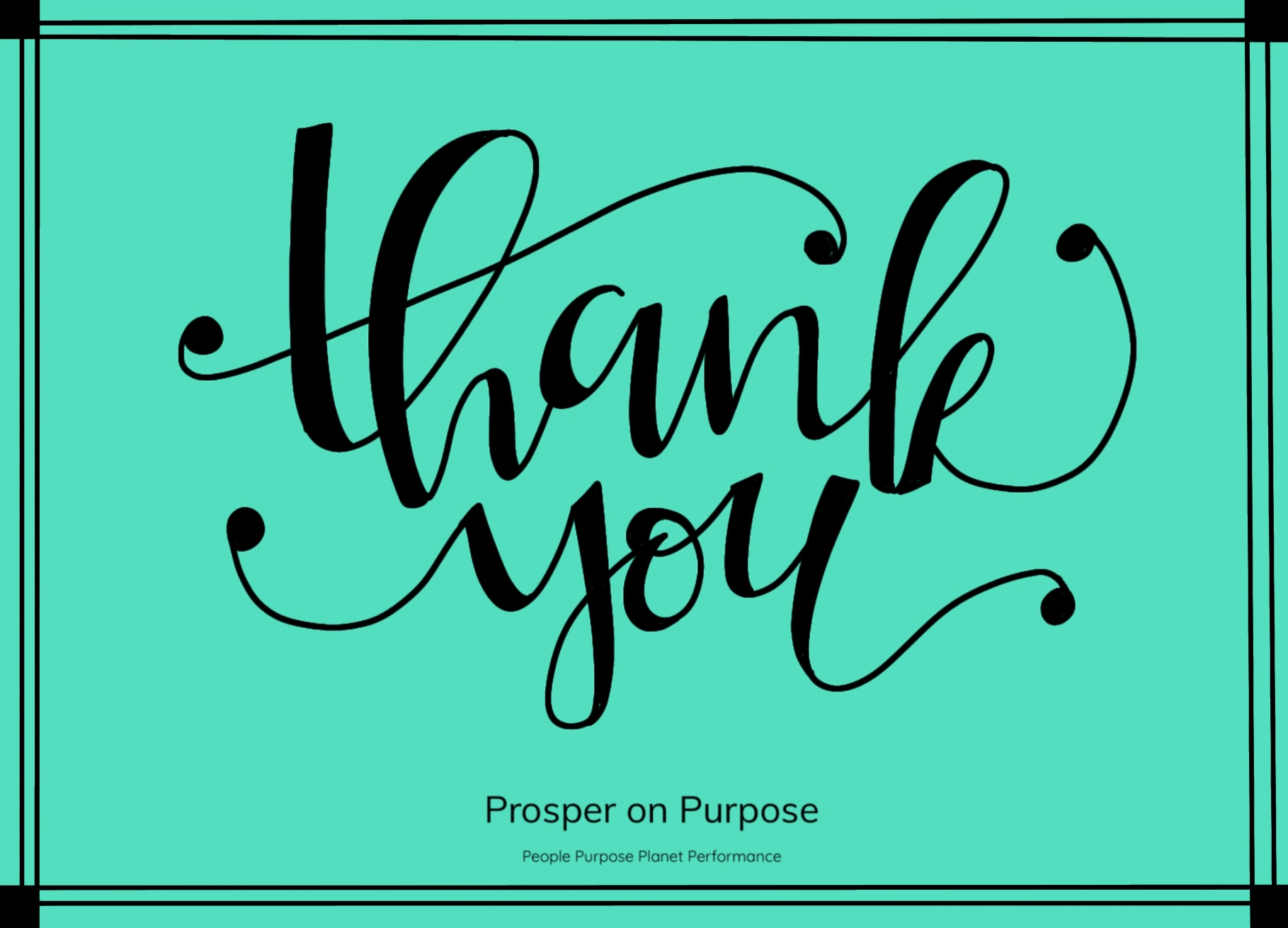 Prosper on Purpose - thank you