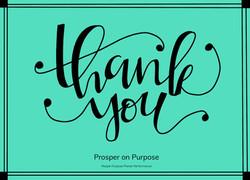 Prosper on Purpose - thank you