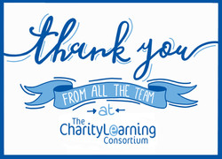 Thank you card - Charity Learning Consortium