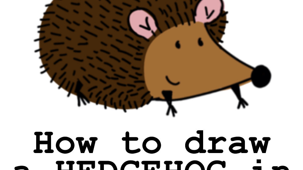 How to draw a hedgehog in eight steps