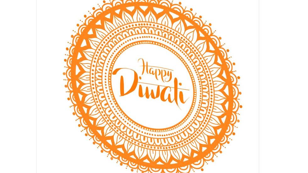 Diwali card - mandala