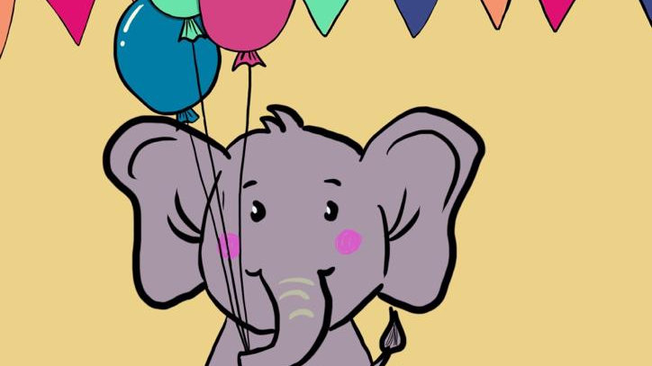 Elephant with Baloons