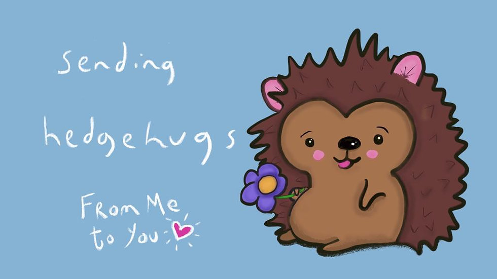 Sending Hedgehugs (blue)