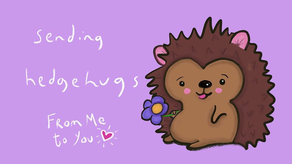 Sending Hedgehugs (purple)
