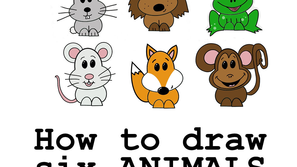 How to draw six animals