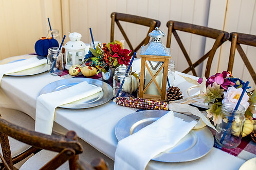 Autumn Blues - Guest Table