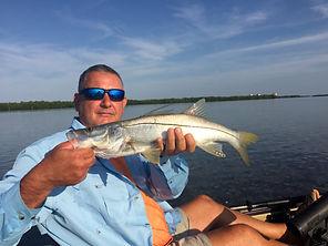 Fort Myers kayak fishing charter for snook
