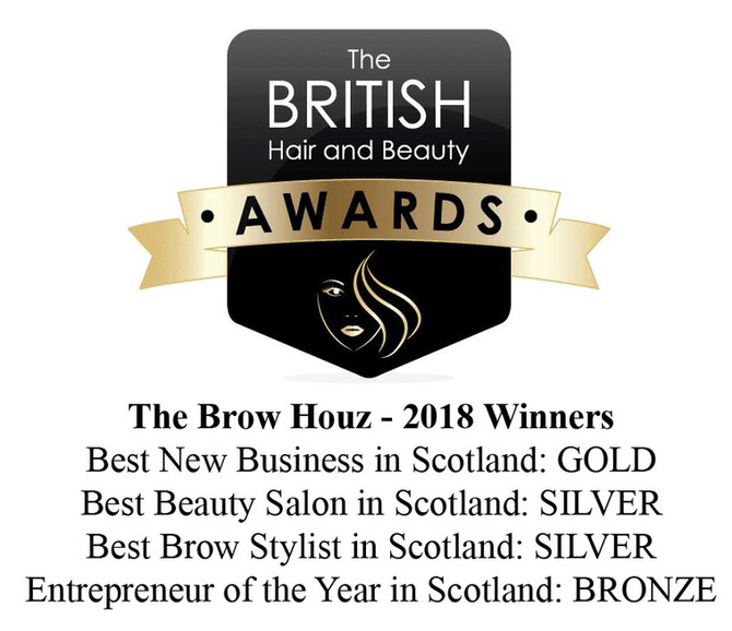 2018 Winners of The British Hair and Beauty Awards in Scotland.