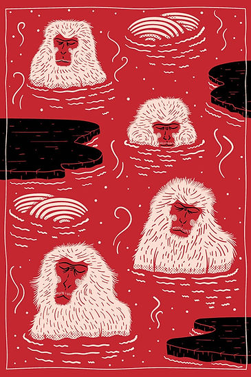 Moooi's Playful 'Indigo Macaque' Rug Dep