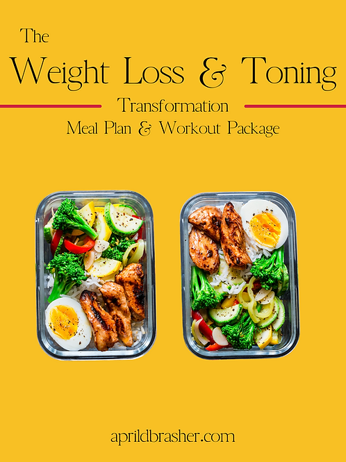 Weight Loss & Toning Meal and Workout Package
