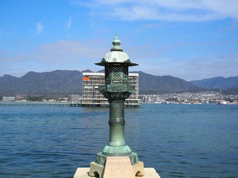 厳島神社から臨む