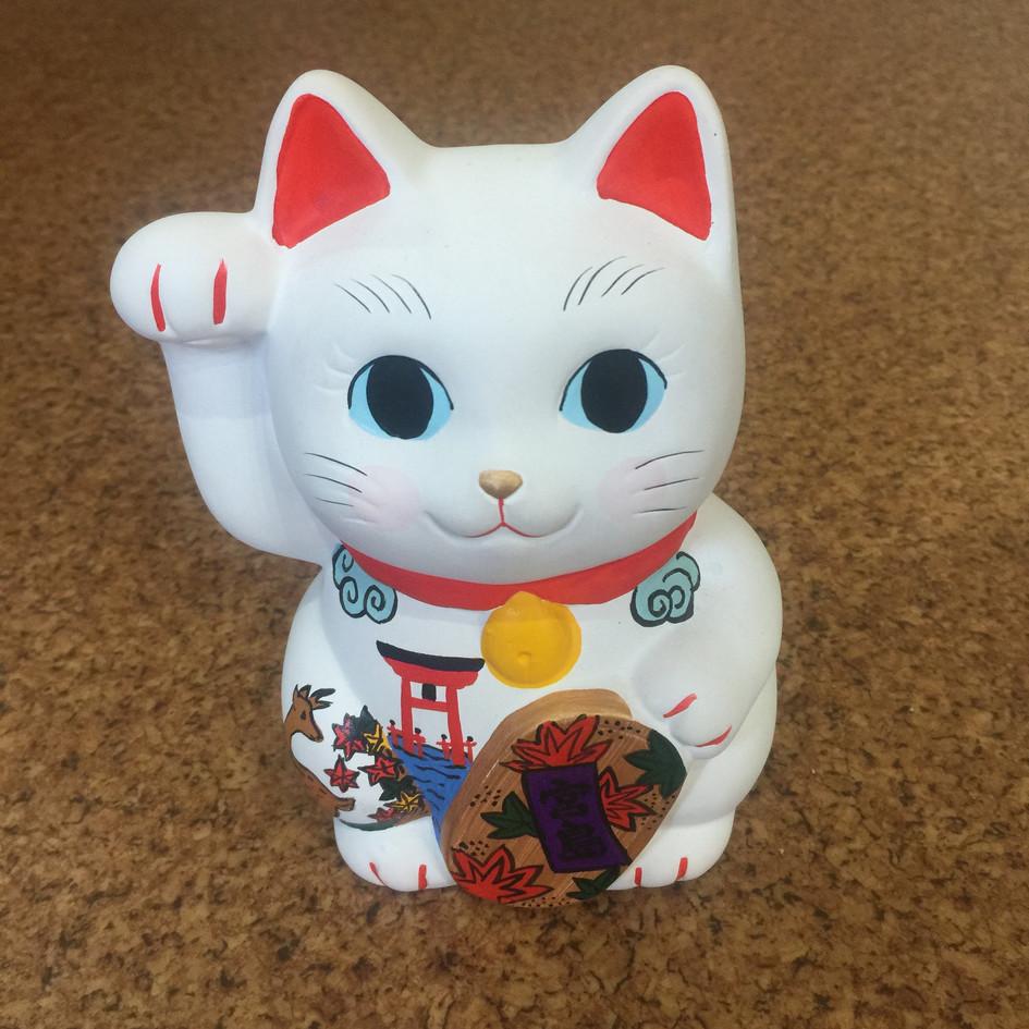 宮島招き猫(大・貯金箱)