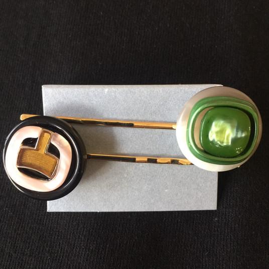 ヴィンテージボタン ヘアピン