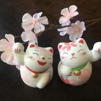 運勢上向き桜招き猫