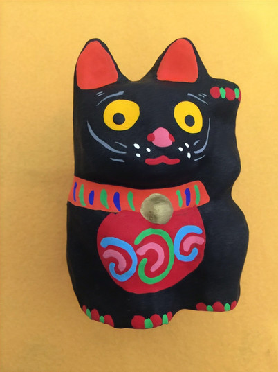 招き猫(黒)