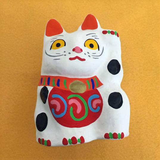 招き猫(白)