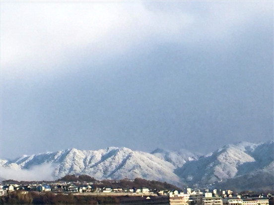 宮島対岸の山