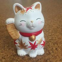 小判紅葉招き猫