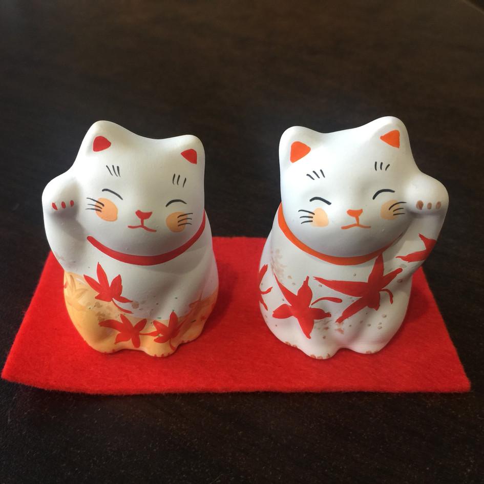 紅葉招き猫セット