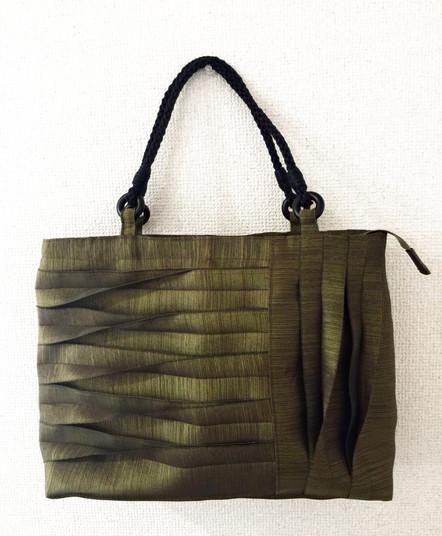 畳縁ハンドバッグ
