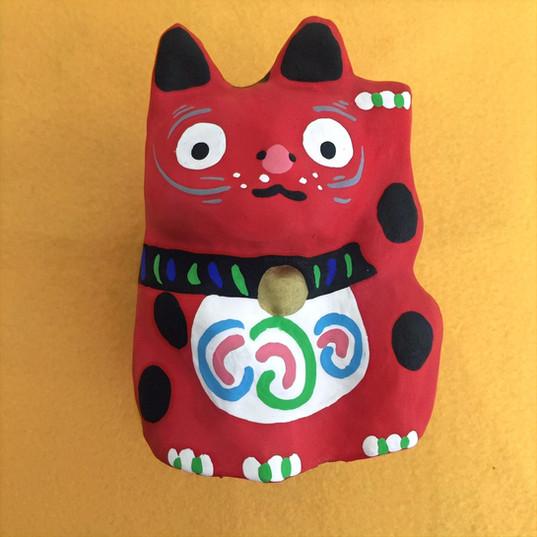 招き猫(赤)