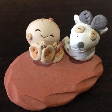 鹿と夢わらべ人形