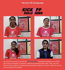 KickOff Scholarship Girls - Oscar Foundation