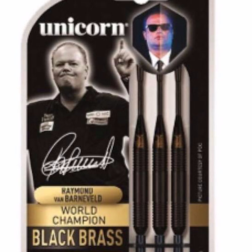 Unicorn Raymond Van Bernaveld W.C. Black Brass Dart Set