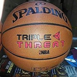 "Spalding Basketball Ball Leather ""Triple Threat"""
