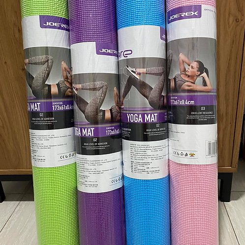 JoeRex I-CARE 4mm Yoga Mat with Bag