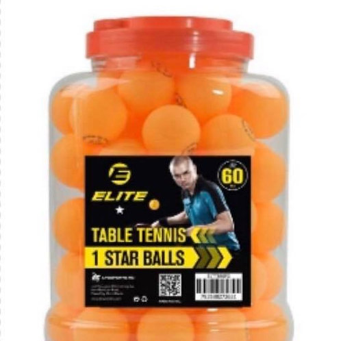 Elite 1 STAR Table Tennis Balls