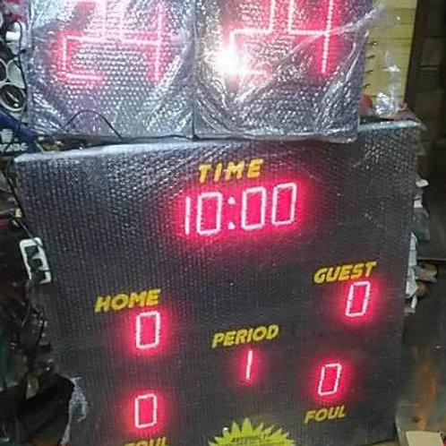 """36"""" x 36"""" Scoreboard with dual timer shot clock"""