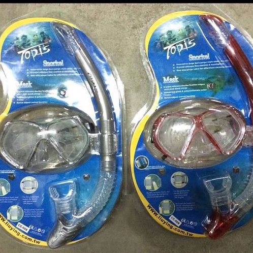 Snorkel and mask set