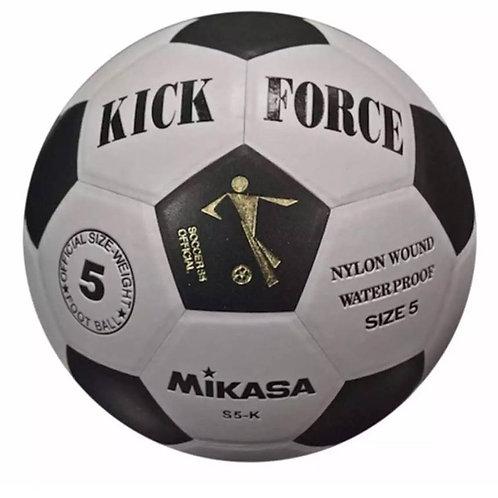 Mikasa Kick Force Football Ball Nylon Wound Water Proof Size 5
