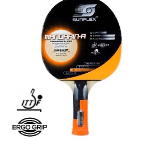 """Sunflex """"Mandarin-A"""" Advanced T/T Bat, Shock Absorber Tube, Anatomic Ergo Grip"""