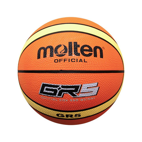 Molten-BGR5-YBW-JR Rubber 12 Panel Brown JR Basketball Size 5, For Outdoor