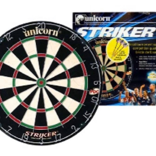 Unicorn Striker Bristle Dart Board with Dart Set