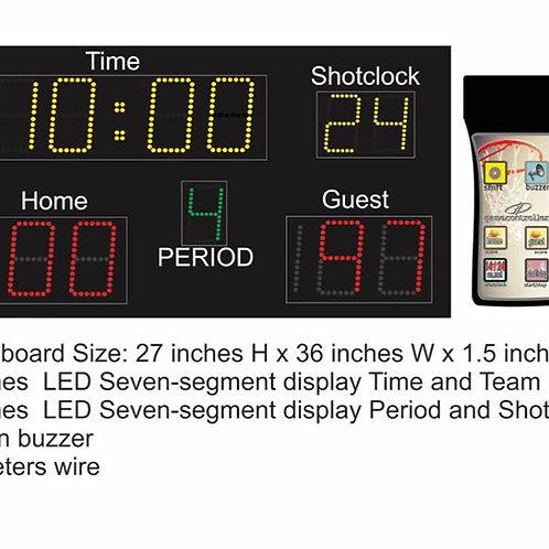 "27"" x 36"" Digital scoreboard multicolored"