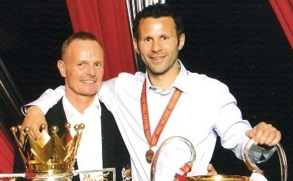 Mick Clegg with Ryan Giggs