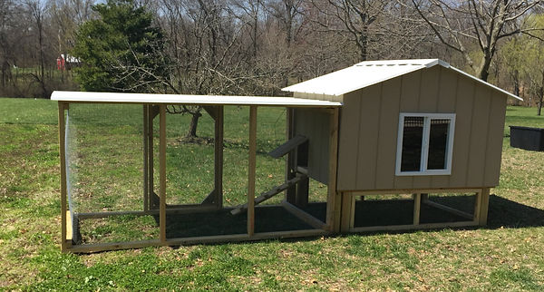 Chicken Coop - Hut with chicken package run - St. Louis, MO - A+ Builds