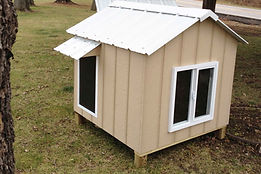Dog House - Hut with door - St. Louis, MO - A+ Builds