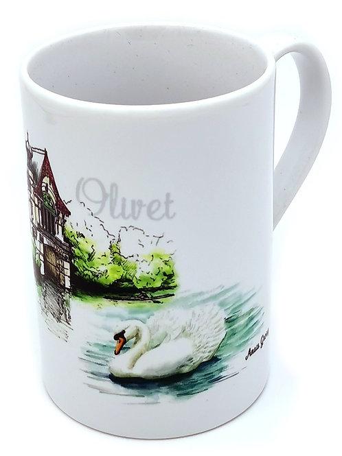 Mug fine porcelaine Olivet