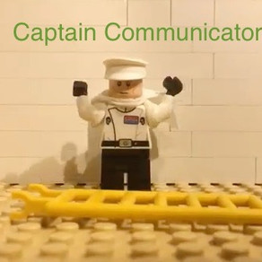 Lego animation of hand model of brain