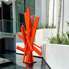 Orange Cross-Lines 2199