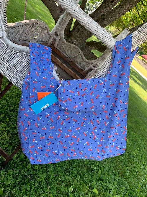 Reusable Fold Away Shopping Bag Cherries