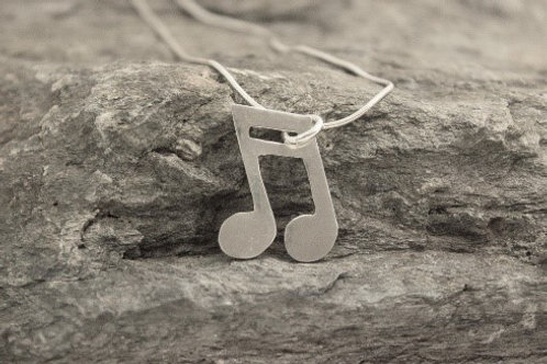 Sterling Silver Music Notes Necklace