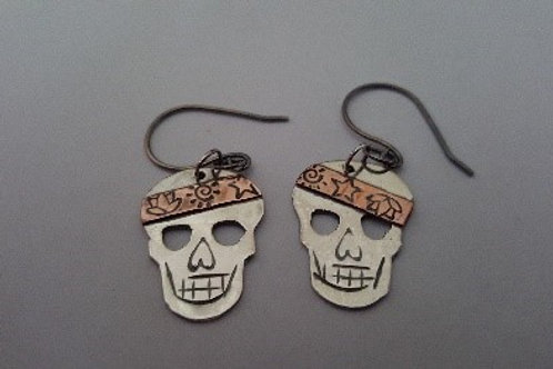 Sugar Skulls of Sterling Silver and Copper